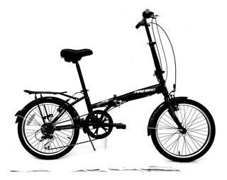 Bicicleta Fire Bird Plegable Rodado 20 6 Velocidades Discos