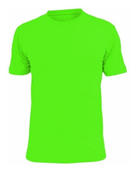 Remera Camiseta Deportiva Dri Fit Cool Verde Fluor