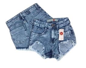 Kit 10 Shorts Jeans Feminino Atacado Cintura Alta Hot Pant