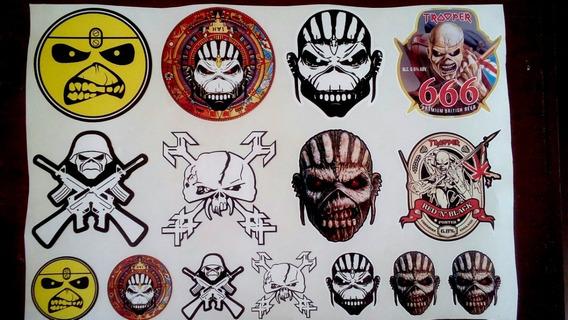 15 Adesivos Iron Maiden