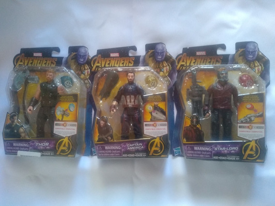 Lote Avengers Infinity War Star-lord, Thor Y Capitan Americ