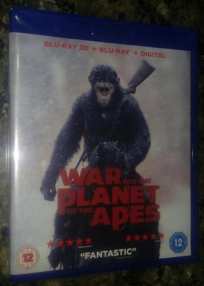 Bluray 3d Planeta Dos Macacos - A Guerra- Edicao Americana