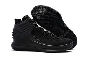 Zapatos De Basketball Air Jordan 32 Triple Black