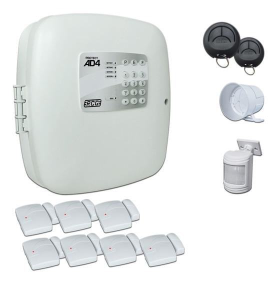 Kit Alarme Residencial Comercial Com 8 Sensores Sem Fio