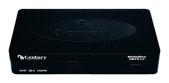 Kit 2 Receptor Midiabox B3 Century Hd Tv Digital Brasil
