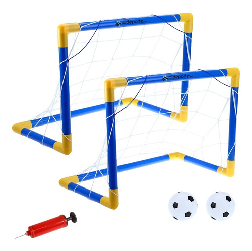 2 Arco Futbol Para Niños Armable Resistente + Pelota