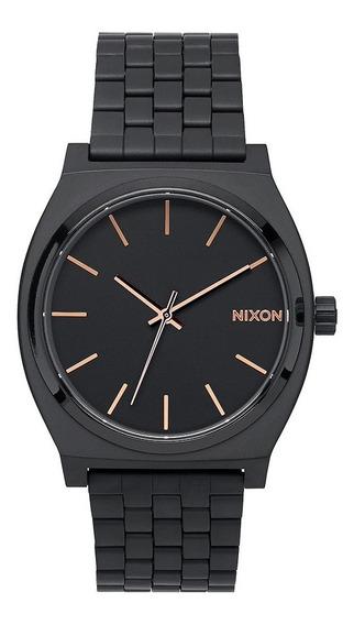Reloj Nixon Time Teller All Black/rose Gold