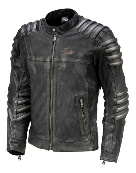 Jaqueta Masculina Couro Tutto Moto Mad Max Com Proteções