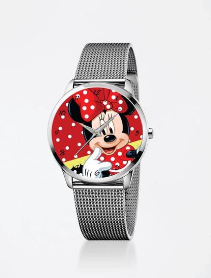 Relógio De Pulso Feminino Personalizado Minnie Mouse 02