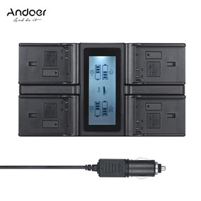 Andoer Pt -el15 Lcd Carregador Bateria Câmera Digital 4 Cana
