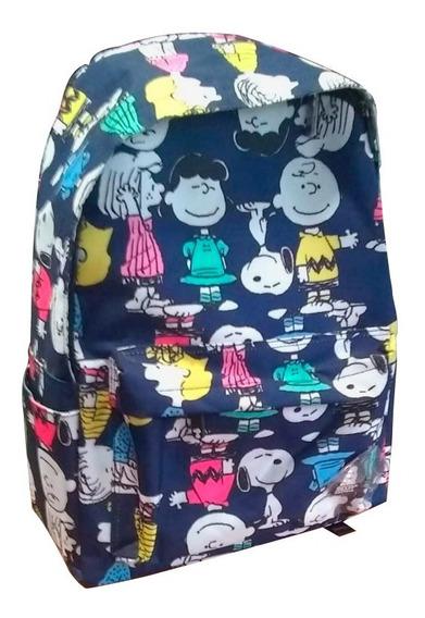 Mochila Snoopy Nena Snp3420 Escolar Med 45x20x30 *2