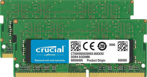 Memoria Ram 32gb Crucial Kit (16gbx2) Ddr4 2400 Mt/s (pc4-19200) Dr X8 Sodimm 260-pin Para Mac - Ct2k16g4s24am