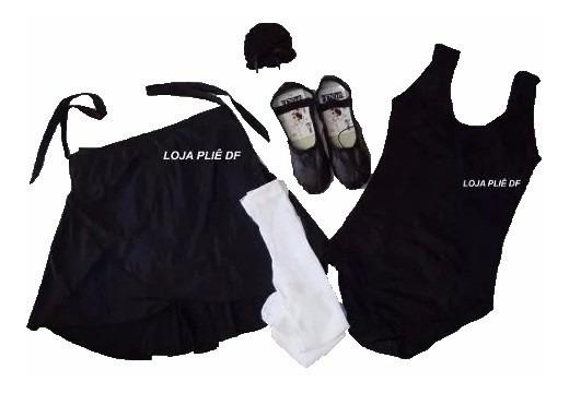 Kit Roupa Uniforme Figurino Ballet Infantil