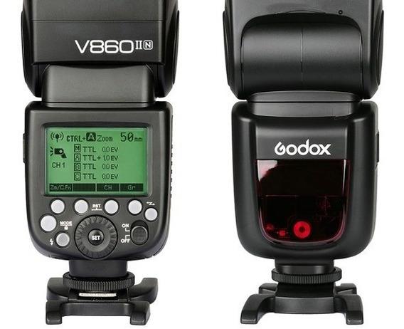 Flash Godox V860 Ll Para Nikon C/ Bateria