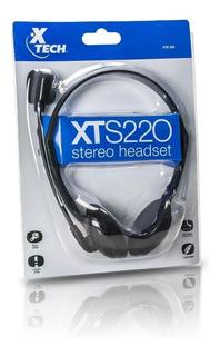 Auricular Xtech Para Pc C/micrófono Ajustable Xts-220 Simm