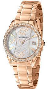 Relógio Rosê Feminino Ana Hickmann Ah28544z Original