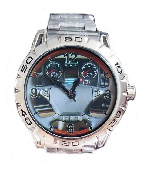 Relógio Pulso Personalizado Foto Volante Painel Scania Ac