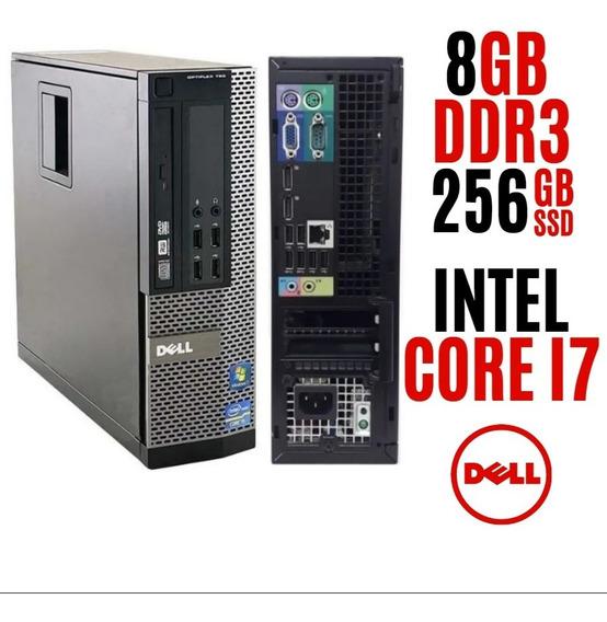Pc Cpu Dell Core I7, Ssd 256gb, Ram 8gb Parcelamos No Cartão