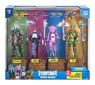 Figuras De Accion De Fortnite Squad Mode Ragnarok Rex Set