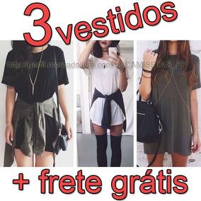 Roupa Estilo Tumblr Style Kit 3 Vestido Casual Básico Balada