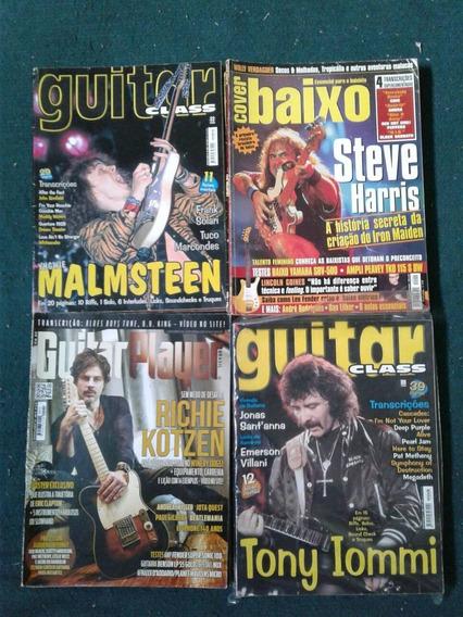 Guitar Class Revista Lote Com 22 Revistas Tabs Guitar Bass