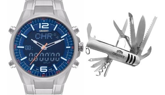 Relógio Analogico Digital Aço Orient Mbssa048 - 12x S/ Juros