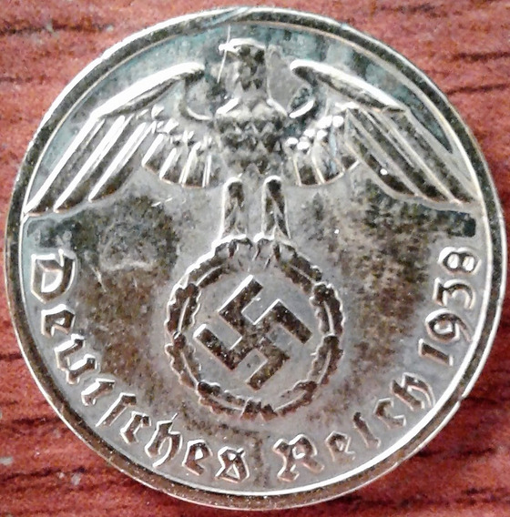 Alemanha 1938 A Nazista 1 Rpf Banho D Ouro 24k 2ª Guerra