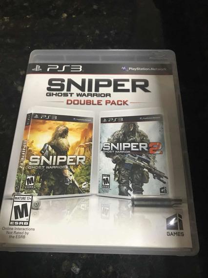 Jogo Ps3 Sniper Ghost Warrior 1 E 2 Double Pack Mídia Física