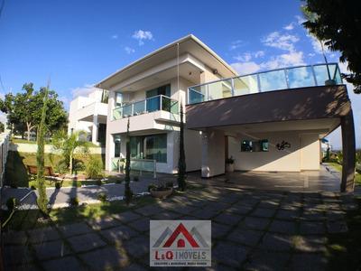 Maravilhosa Casa Moderna Com Fino Acabamento Com Vista Para Lagoa Central! - 3610