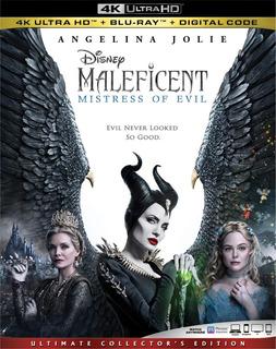 Maleficent Mistress Of Evil 4k Ultra Hd + Blu-ray Orig Nuevo