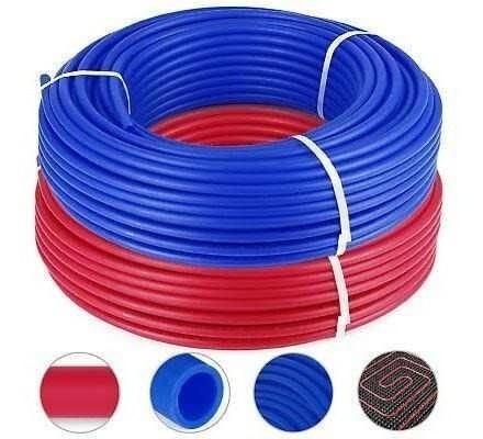 ¿2 Rollos De 1/2? Azul Rojo De La Pipa De Calor De Piso-5936