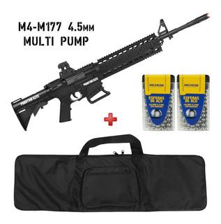 Rifle De Pressão Phantom Elite M4-m177 4.5mm+esfera Aço+capa