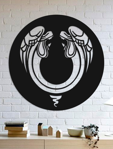 Quadro Decorativo Parede Religião Anjos 90cm