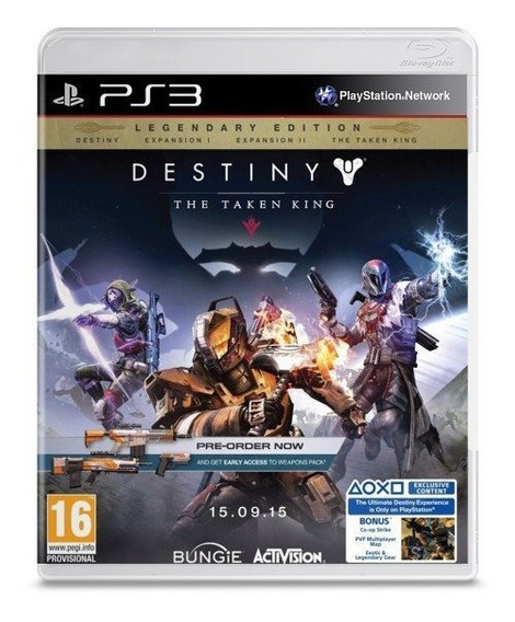 Destiny The Taken King Ps3 Via Psn Original