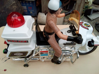 Motocicleta Vintage Police Jumbo Cycle Con Caja
