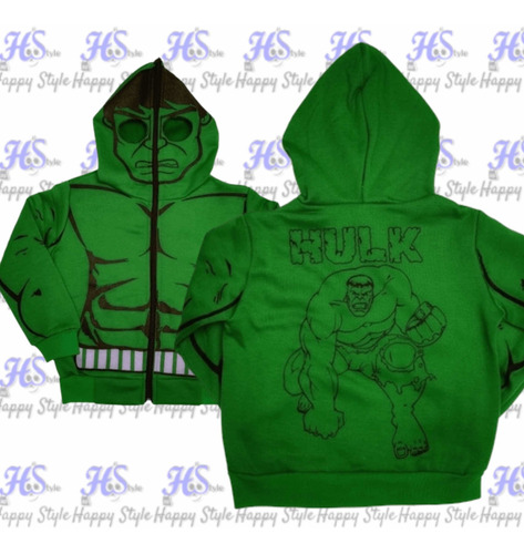 Chaqueta, Buzo Niño Super Héroes Ironman,hulk ( Hstyle)