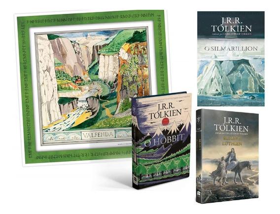 Kit 3 Livros O Hobbit + O Silmarillion + Beren E Lúthien