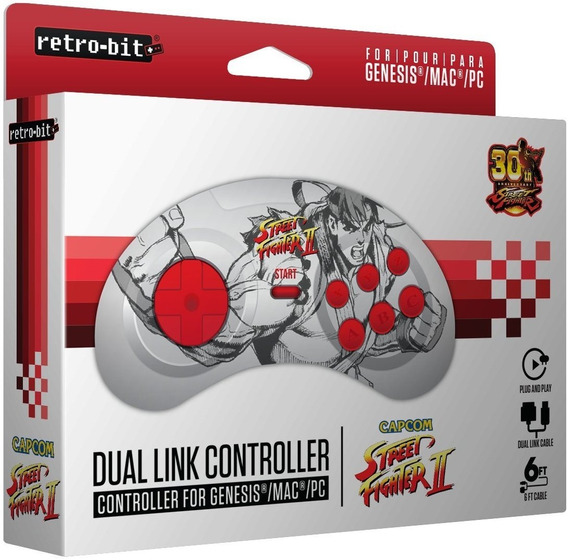 Controle Retro-bit Mega Drive Street Fighter Edição Especial