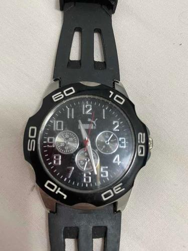 Relógio Puma - Pulseira De Borracha - Semi Novo Sem Bateria