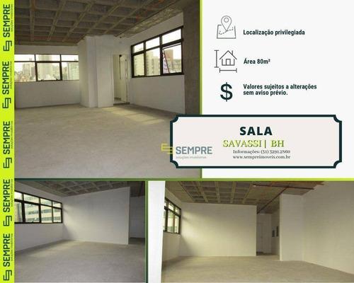 Imagem 1 de 16 de Sala À Venda, 80 M² E 01 Vaga - Savassi - Belo Horizonte/mg - Sa0097