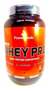 Power Whey Pro 1kg Baunilha 100% Pura Powerfoods