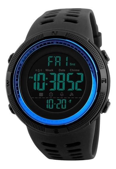 Relógio Digital Esporte Shock Resistent A Prova D´agua Azul