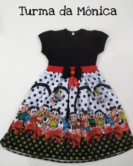 Turma Da Mônica Vestido Infantil Promoção