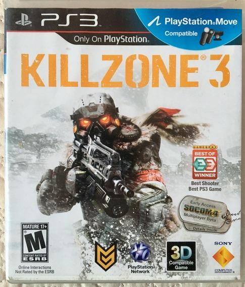 Jogo Killzone 3 Ps3 Mídia Física