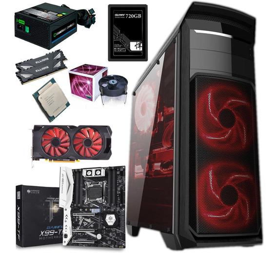 Pc Gamer Xeon 2658 V3 - Rx 570 - 16 Gb Ddr4 - Ssd 720 Gb