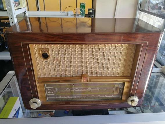 Radio De Madera Antiguo Philips Bx536a Válvulas 1954 Holland