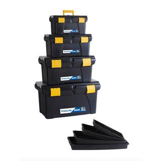 Kit 4 Cajas De Herramientas Organizadoras Plastico Vanguard