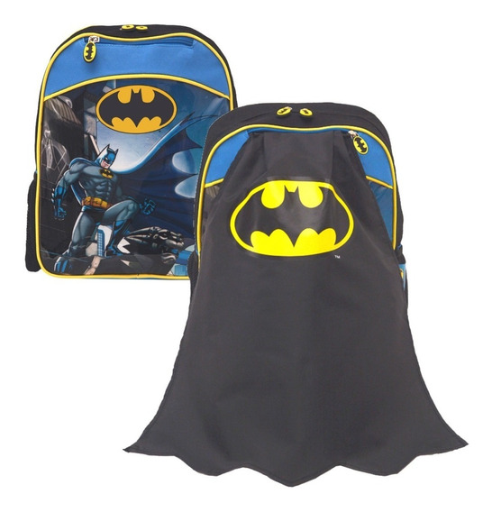 Mochila Espalda Jardin 13 Pulg Batman Con Capa Mundo Team