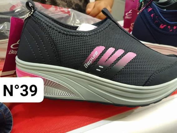Zapatillas Con Plataforma Sin Cordones (confeccion Chica)