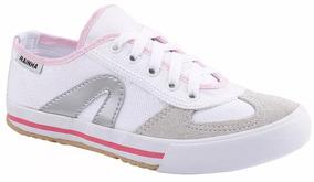 Tenis Rainha Branco Com Rosa